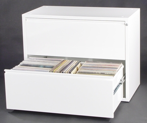LPCAB29   A Browser Style 2 Drawer LP Storage Cabinet